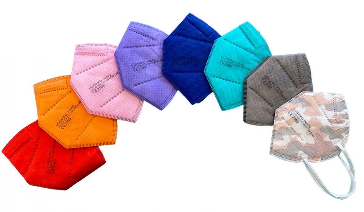 ImplanTec mehrfarbige FFP2 Masken